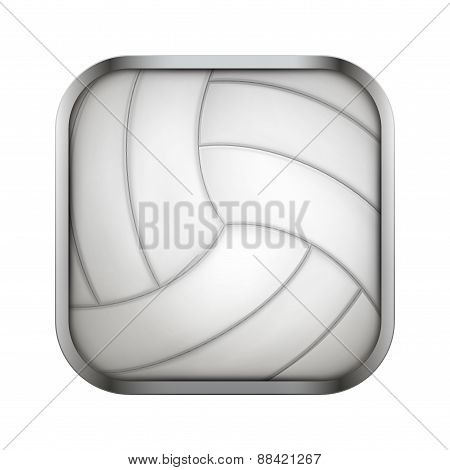 Square icon for volleyball app or games