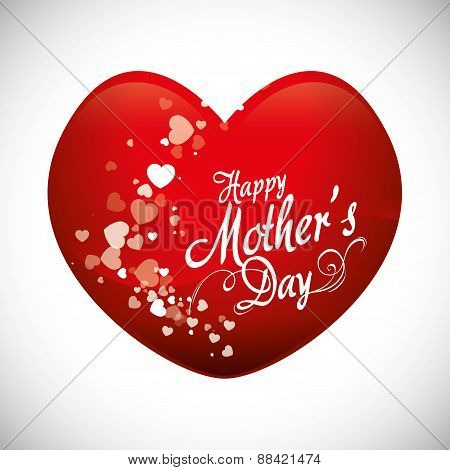 Mothers day card design.