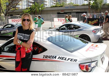 LOS ANGELES - FEB 18:  Tricia Helfer at the Toyota Grand Prix Pro/Celeb Race at the Toyota Grand Prix Racecourse on April 18, 2015 in Long Beach, CA