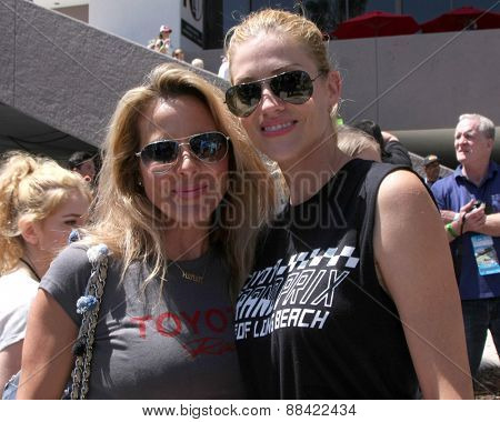 LOS ANGELES - FEB 18:  Kate del Castillo, Tricia Helfer at the Toyota Grand Prix Pro/Celeb Race at the Toyota Grand Prix Racecourse on April 18, 2015 in Long Beach, CA