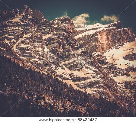 Pyrenees mountains in Cirque de Gavarnie, France