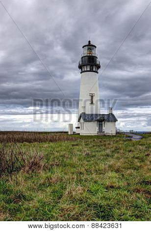 Scenic Yaquina lighthouse.