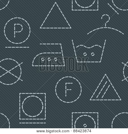 Laundry seamless background. Vector EPS10.