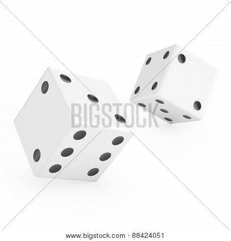 Thrown white dice