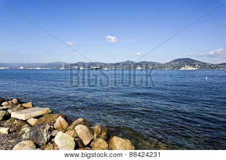 Calm Waters Of The Gulf Of St. Tropez