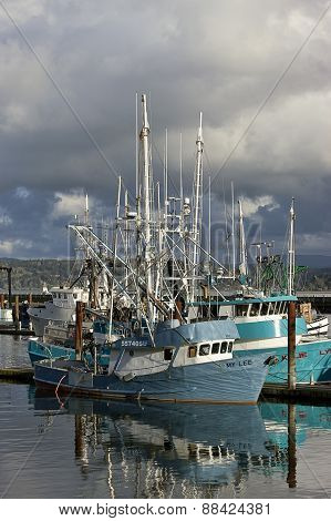 Close up of fishing vessel.
