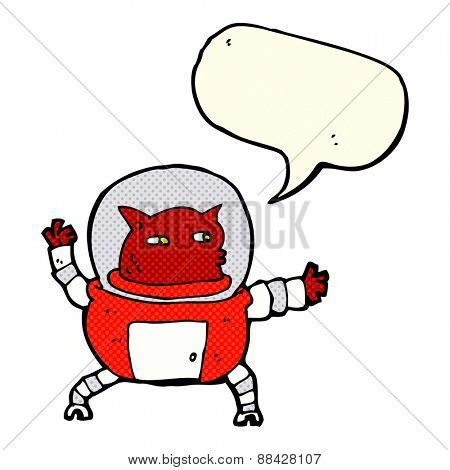 cartoon alien with speech bubble