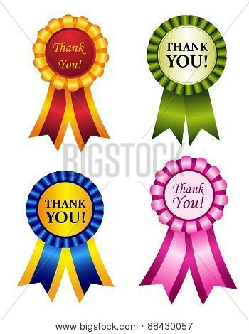 Thank You Ribbon Rosettes
