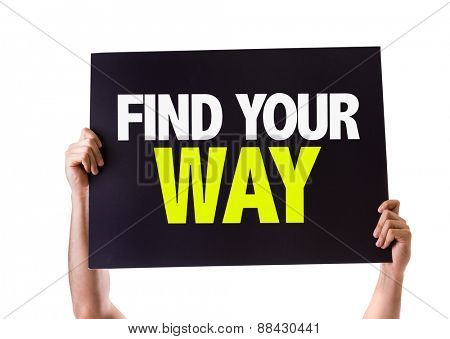 Find Your Way card isolated on white