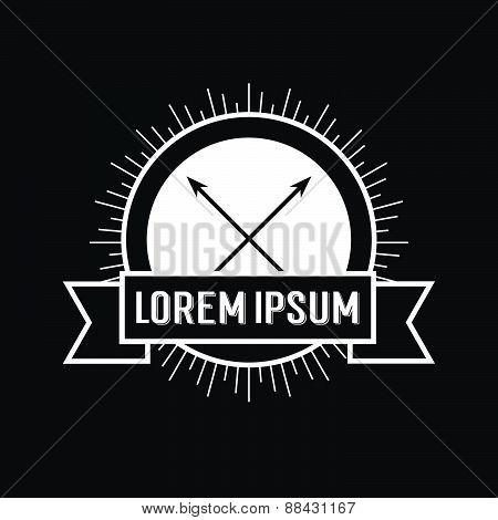 Black And White Hipster Logo.