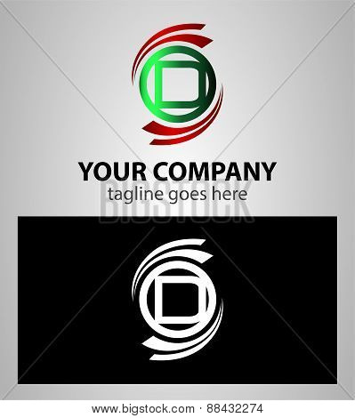 Letter D logo element icon set