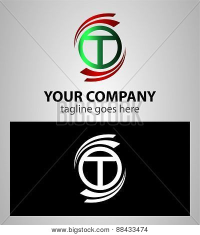 Alphabet Symbols And Elements Of Letter T, such a logo