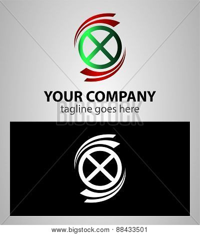 Letter X logo Icons element Set