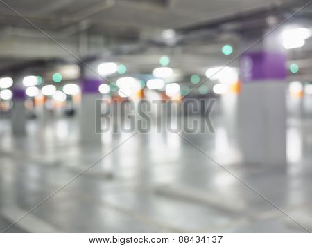 Blurred Car Park Background