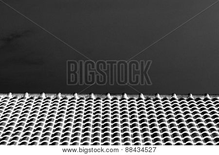 Abstract Black And White Roof Top