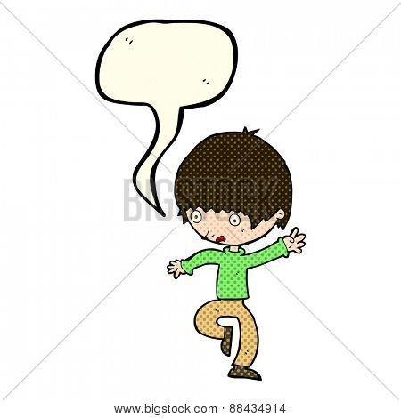 cartoon panicking man with speech bubble