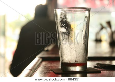 an empty beer