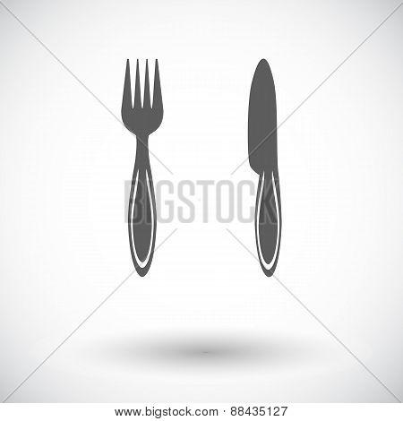 Cutlery single flat icon.