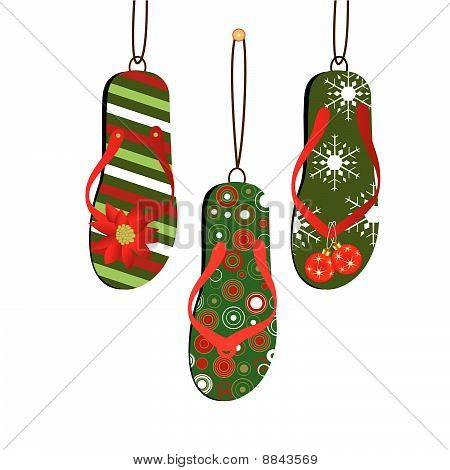 Christmas Flipflops  3  Choices
