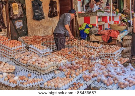Chicken Eggs At The Moroccan Souk