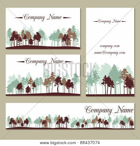 set of templates with trees