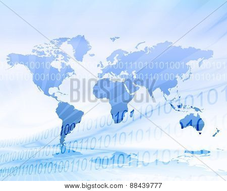 World Map Conceptual Background