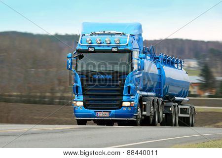 Scania R500 Tank Truck On The Road