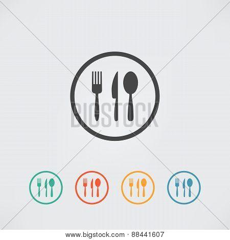 Kitchen Set Vector. Cutlery symbols