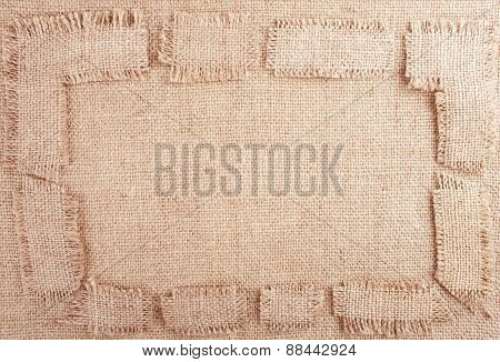 Burlap Background With Frame