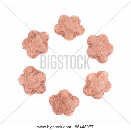 Valentine heart biscuits.