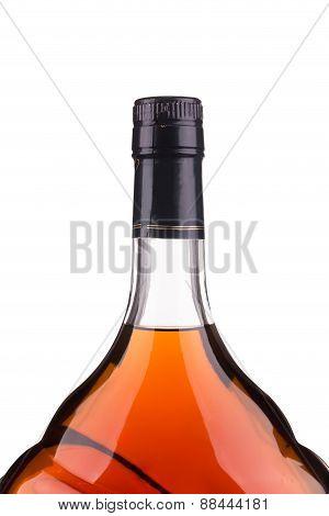 Top of bottle with cognac.
