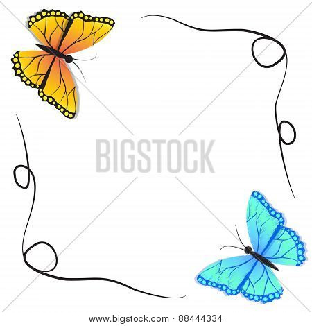 Spring butterfly for paper background