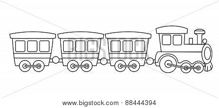 Toy Train Coloring Graphic