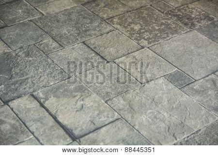 Background Texture Of Gray Tiled Pavement City Ground