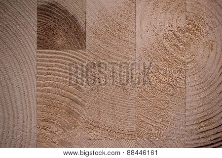 Glued Hardwood Tree Texture Background