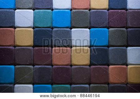 Image Colored Tratuar Paving  As A Background