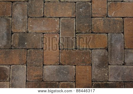 Red Brick Paving Stones Texture