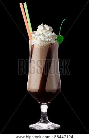 Coffee Cocktail On The Black Background