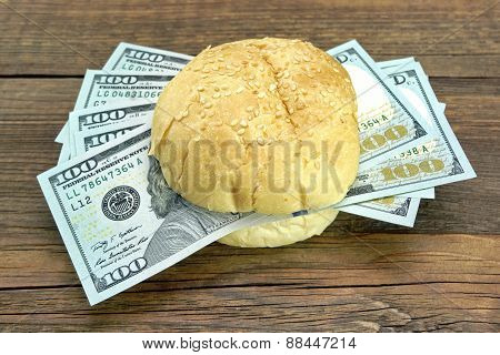 New One Hundred Dollar Bills Fresh Burger