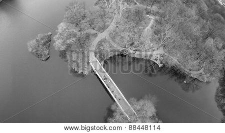 Aerial View Of Bow Bridge