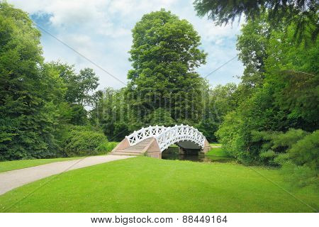 Stone bridge over the stream