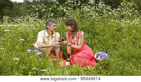 Picnic On Grass