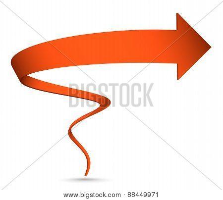 Vector Illustration of  3D spiral arrow.