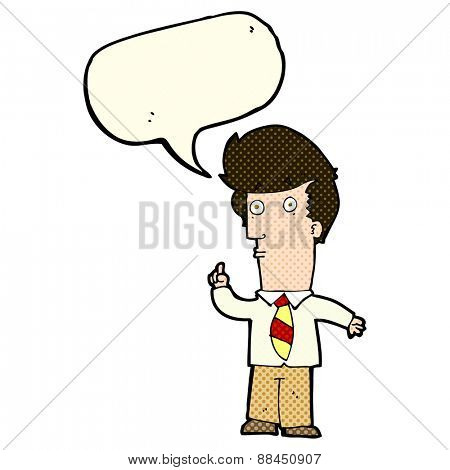cartoon man with question with speech bubble