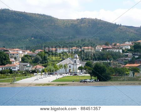 Church On Banks Of River Duero, Portugal