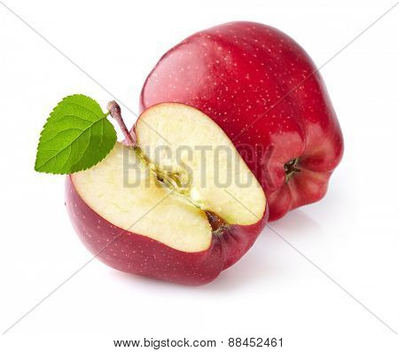 Apple with slice