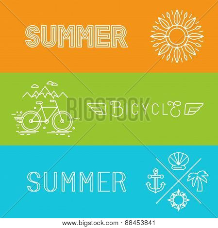 Vector Summer Holidays Banners