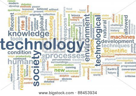 Background text pattern concept wordcloud illustration of technology