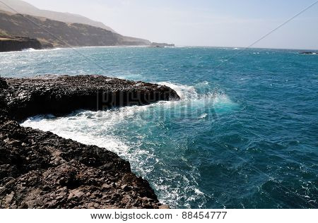 Ledge Into Ocean