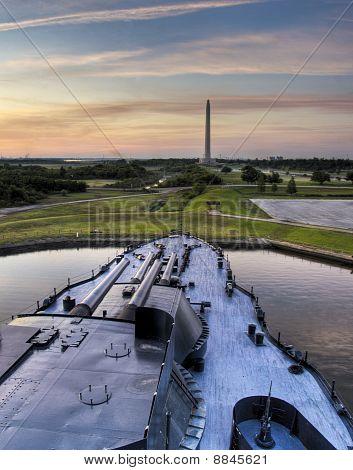 BB-35 USS Texas and San Jacinto Monument